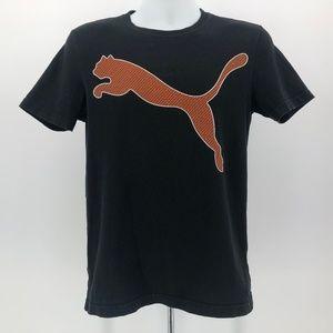 Puma Black & Orange Short Sleeve Logo T-Shirt